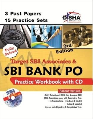 Target SBI Associates & SBI Bank PO Practice Workbook with CD : 3 Past Papers 15 Practice Sets (English) 3rd  Edition by Disha Experts