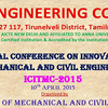 International Conference on Innovative Trends in Mechanical and Civil Engineering, PET Engineering College, April 10 2015, Tirunelveli, Tamil Nadu