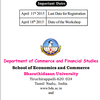 National Workshop on Emerging Trends in Business Research, Bharathidasan University, April 18 2015, Tiruchirappalli, Tamil Nadu