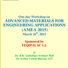 One Day Workshop On Advanced Materials For Engineering Applications, Gitam University, March 26 2015, Visakhapatnam, Andhra Pradesh