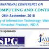 International Conference on Signal Processing, Computing and Control  ISPCC 2015, Jaypee University of Information Technology, September 24-26 2015, Solan, Himachal Pradesh