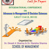 International Conference On Advances in Management & Decision Sciences, Gautam Buddha University, July 11-12 2015, Greater Noida, Uttar Pradesh