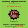 National Conference On Advancements in Embedded Systems and Sensor Networks, KL University, May 22-23 2015, Guntur, Andhra Pradesh
