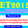 International Conference on Research Innovations in Engineering And Technology ICRIET 2015, Yogananda Institute of Technology and Science, April 17 2015, Tirupati, Andhra Pradesh