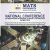 National Conference On Innovations In Material Science And Technology, MATS University, April 24-25 2015, Raipur, Chhattisgarh
