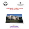 Training Programme in Geospatial Technology, Jamia Millia Islamia, May 26-June 15 2015, New Delhi, Delhi