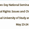 Two Day National Seminar cum Workshop on Tribal Rights Issues and Challenges in Jharkhand, National University of Study and Research in Law, May 23-24 2015, Ranchi, Jharkhand