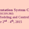 Control Instrumentation Systems Conference CISCON 2015, Manipal Institute of Technology, November 2-4 2015, Manipal, Karnataka