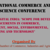 International Commerce and Social Science Conference, Indo Global Chamber of Commerce Industries and Agriculture, September 6 2015, Pune, Maharashtra