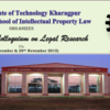2nd National Colloquium on Legal Research, IIT, November 28-29 2015, Kharagpur, West Bengal