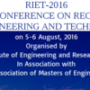 International Conference on Recent Innovations in Engineering & Technology (RIET-2016), Shatabdi Institute of Engineering & Research, Aug 05-06, 2016, Nashik, Maharashtra