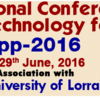 International Conference on Nanoscience and Nanotechnology for Energy Applications (EApp 2016), Sathyabama University, June 27-29 2016, Chennai, Tamil Nadu