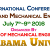 2nd International Conference on Frontiers in Automobile & Mechanical Engineering (FAME 2016), Sathyabama University, July 7-9 2016, Chennai, Tamil Nadu