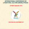 International Conference on Literature Culture & World Peace, Higher Education and Research Society, Sep 23-24, 2016, Pune, Maharashtra