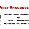 International Conference on Signal Processing, organized by Samrat Ashok Technological Institute (SATI), Nov 07-09, 2016, Vidisha, Madhya Pradesh