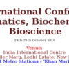 2nd International Conference on Bioinformatics Biochemistry & Bioscience (ICBBB-16), Oct 24-25, 2016, New Delhi