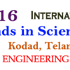International Conference on Emerging Trends in Science & Technology (ICETST-2016), Anurag College of Engineering, May 27-28, 2016, Nalgonda, Telangana