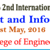2nd International Conference on Power Circuit and Information Technologies (ICPCIT-2016), Raja Rajeshwari College of Engineering, May 20-21, 2016, Bangalore, Karnataka