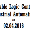 National Workshop on Programmable Logic Controller for Industrial Automation, Kongu Engineering College, April 2 2016, Erode, Tamil Nadu