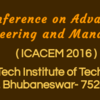 International Conference on Advances in Computing, Engineering and Management (ICACEM-16), HI-Tech Institute of Technology, July 30-31, 2016, Bhubaneswar, Odisha