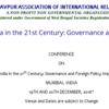 CONFERENCE ON India in the 21st Century Governance and Foreign Policy Imperatives, Dec 19-20, 2016, Mumbai, Maharashtra