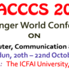 World Conference on Advances in Computer Communication & Control System (WCACCCS), ICFAI University, Oct 20-22, 2016, Dehradun, Uttarakhand