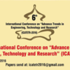 6th International conference on Advance Trend in Engineering Technology and Research (ICATETR-16), Bal Krishna Institute of Technology, Jun 17-18, 2016, Kota, Rajasthan