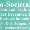 International Conference on Advanced Technologies for Societal Applications, SVERI's College of Engineering, Dec 20-21, 2016, Pandharpur, Maharashtra