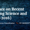 IETR-International Conference on Recent Advances in Engineering Science and Technology (ICRAEST-2016), May 22, 2016, Chennai, Tamil Nadu