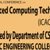 International Conference on Advanced Computing Techniques, AMC Engineering College, May 11-12, 2016, Bangalore, Karnataka