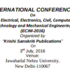 ECIM  2016, Jawaharlal Nehru University, July 3 2016, New Delhi, Delhi
