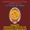 International Conference On Recent Innovations in Engineering and Technology 2016, Bheemanna Khandre Institute of Technology, November 11-12 2016, Bhalki, Karnataka