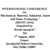 MIANT 2016, Jawaharlal Nehru University, August 7 2016, New Delhi, Delhi