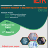 International Conference on Innovative Research in Engineering and Technology (ICIRET) 2016, IETR, August 7 2016, Banglore, Karnataka