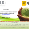 International Conference on Responsible Marketing 2017, XLRI, January 23-24 2017, Jamshedpur, Jharkhand