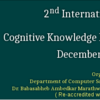 2nd International Conference on Cognitive Knowledge Engineering 2016, BAMU, December 21-23 2016, Aurangabad, Maharashtra