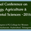 International Conference on Microbiology Agriculture & Environmental Sciences 2016, St.Pious X Degree & PG College for Women, September 01-02 2016, Hyderabad, Telangana