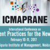 International Conference on Management Practices for the New Economy 2017, Jaipuria Institute of Management, February 10-11 2017, Noida, Uttar Pradesh