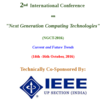International Conference on Next Generation Computing Technologies 2016, University of Petroleum and Energy Studies, October 14-16 2016, Dehradun, Uttrakhand