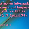National Conference on Informations in Science Management and Engineering (NCISME) 2016, IOSRD, August 19-20 2016, Chennai, Tamil Nadu