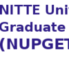 NITTE University Post Graduate Entrance Test (NUPGET)