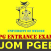 University of Mysore Post Graduate Entrance Examination (UOM PGEE)