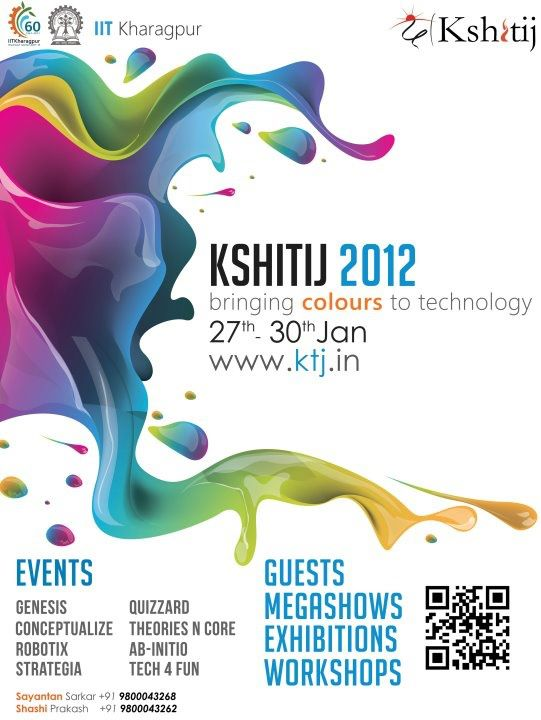 Kshitij 2012, The techno – management fest at IIT Kharagpur from 27th - 30th January 2012
