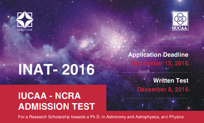 IUCAA NCRA Admission Test (INAT)