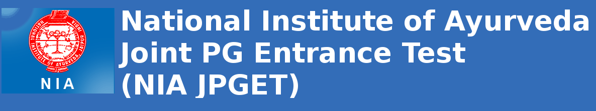 National Institute of Ayurveda Joint PG Entrance Test (NIA JPGET)