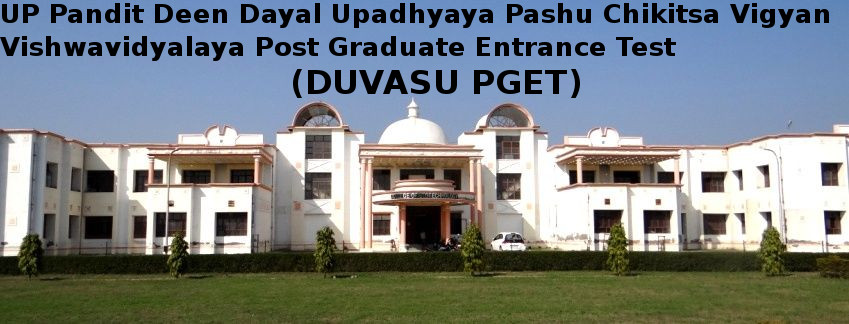 DUVASU Post Graduate Entrance Test (DUVASU PGET)