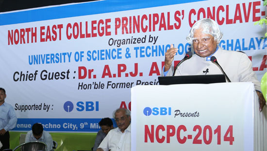 Dr. APJ Abdul Kalam addressed the College Principals at USTM