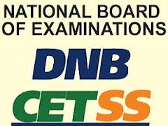 DNB CETSS 2015, Diplomate of National Board Centralised Entrance Test Super Specialty