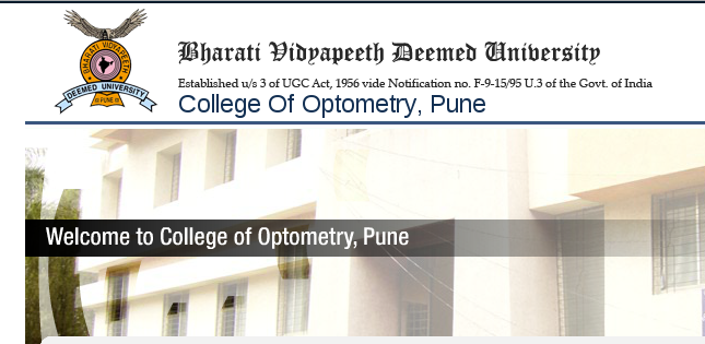 M.Optom Admission 2015, College Of Optometry, Pune