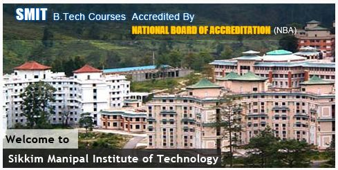BCA MCA Admission 2015 at Sikkim Manipal Institute of Technology